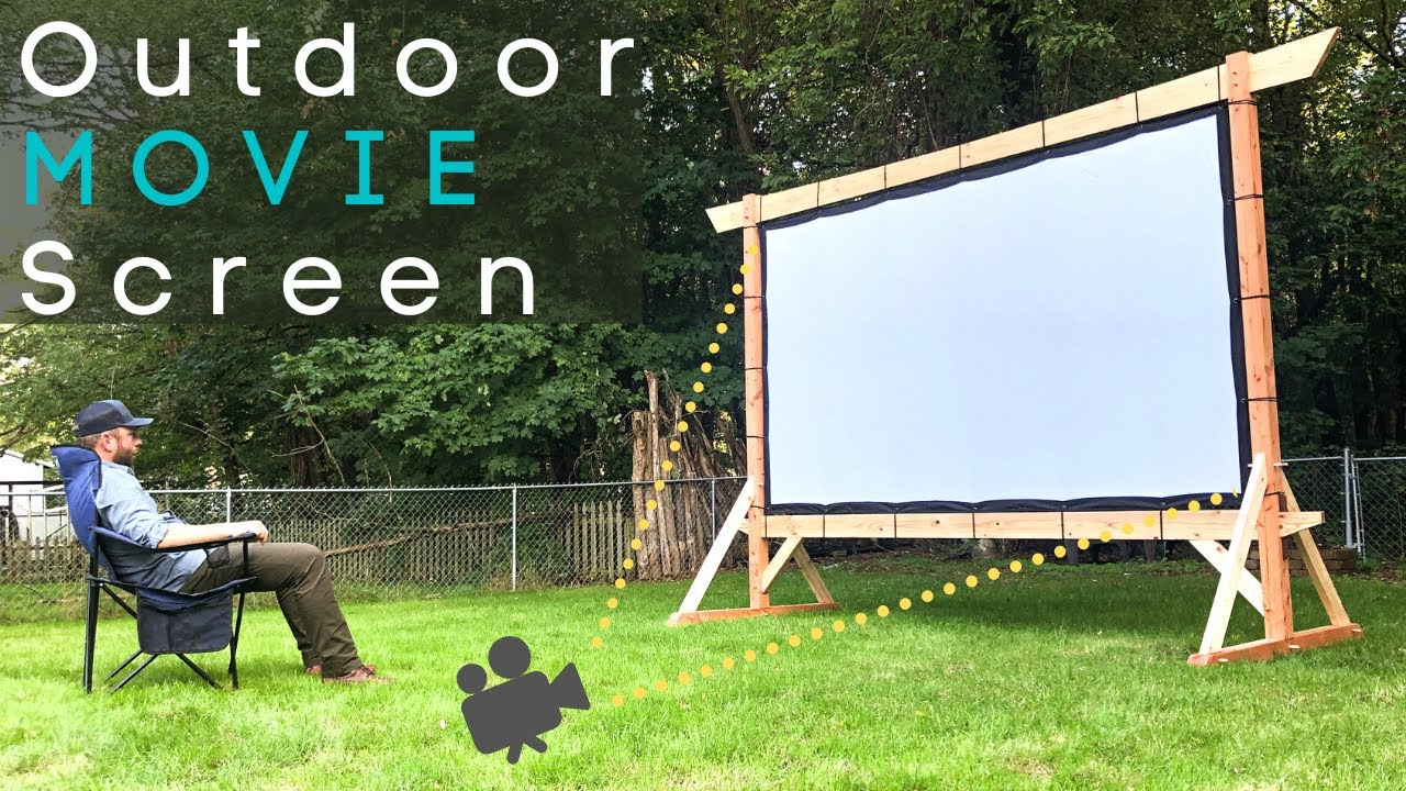 Timber Frame Outdoor Movie Screen Diy Woodworking How To Youtube