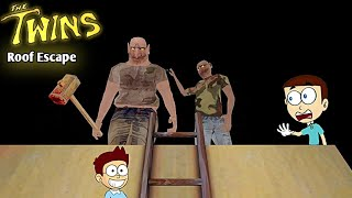Roof Escape - The Twins Horror Game   Shiva and Kanzo Gameplay screenshot 4
