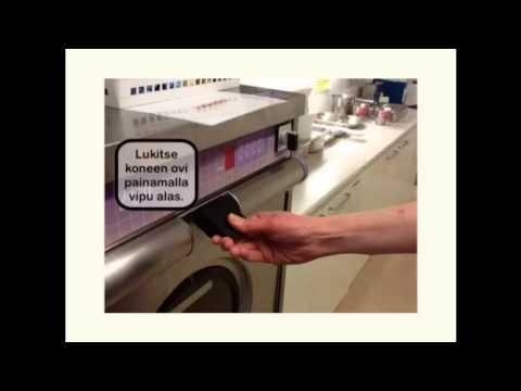pesukoneen käyttö