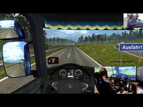 Euro Truck Simulator 2 buying garages , triple screens and wheel