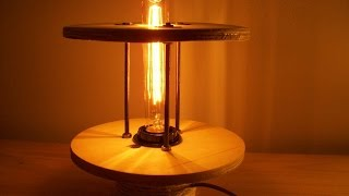 How To Make An Industrial Lamp From An Old Cable Reel - Diy Home Tutorial - Guidecentral