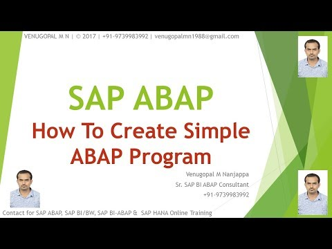 How to Create Simple SAP ABAP Program