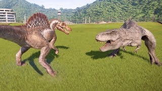 Spinosaurus VS Tyrannosaurus Rex - Jurassic World Evolution | Cantex