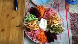 Быстрый и вкусный салат Радуга