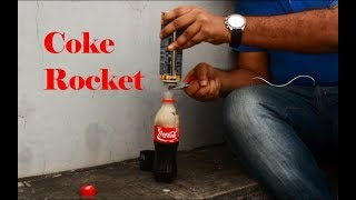 Coke Rocket test ( 1/2 Success )