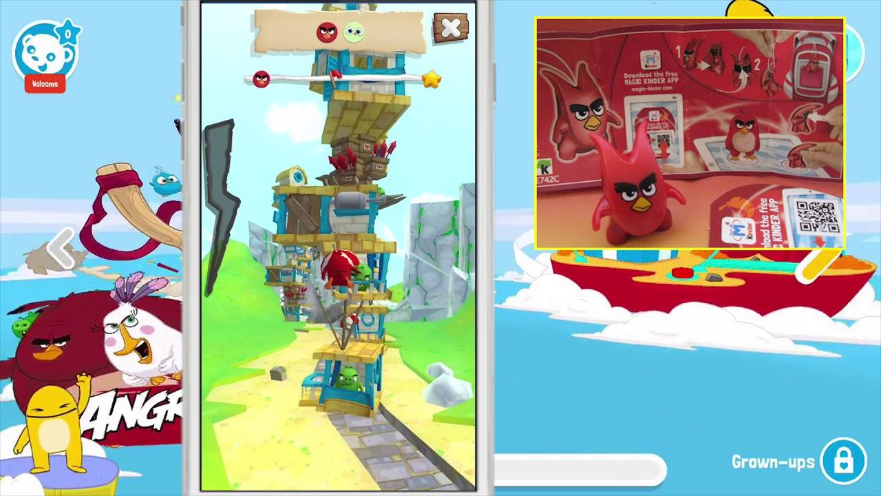 Kinder Joy Magic Kinder Angry Birds Gameplay | 1-10 lvl - YouTube