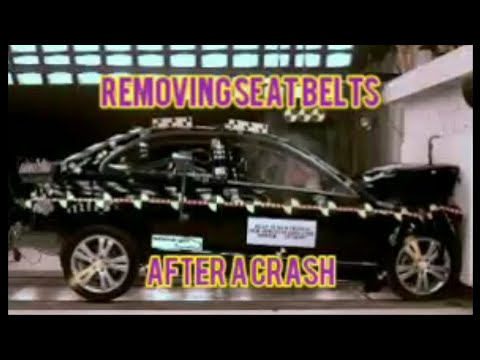 Mercedes How To Remove Locked Damaged Seat Belts W204 C250 C300 C350