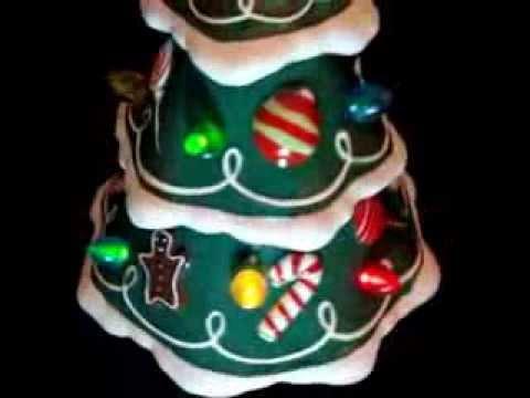 hallmark 2009 musical lighted ceramic christmas tree rotating figurine youtube