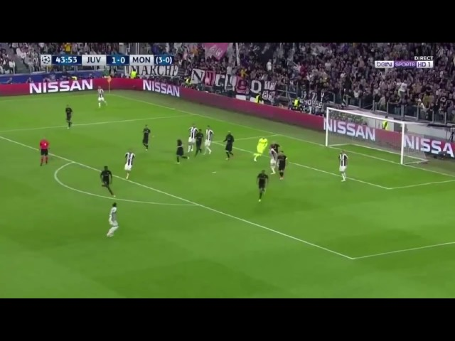 Dani Alves Volley Goal & Celebration Vs Monaco | Juventus 2-1 Monaco (4-1) ✔2017