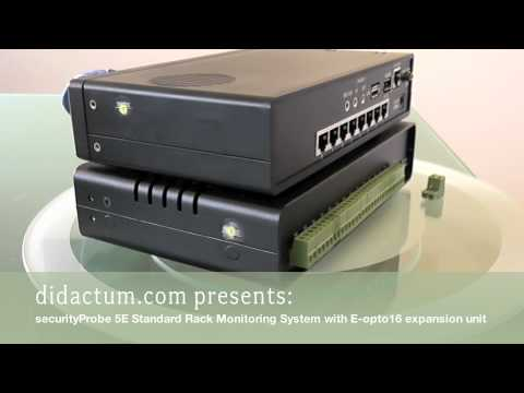 Rack Monitoring with securityProbe 5E Standard and E-opto16 expansion unit