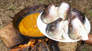 FISH HEAD CURRY COOKING BY RANGERS | ROHU HEAD GRAVY | SOUTH INDIAN STYLE FRESHWATER FISH RECIPE |