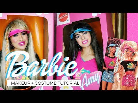 DIY BARBIE HALLOWEEN COSTUME | MAKEUP, OUTFIT + BOX