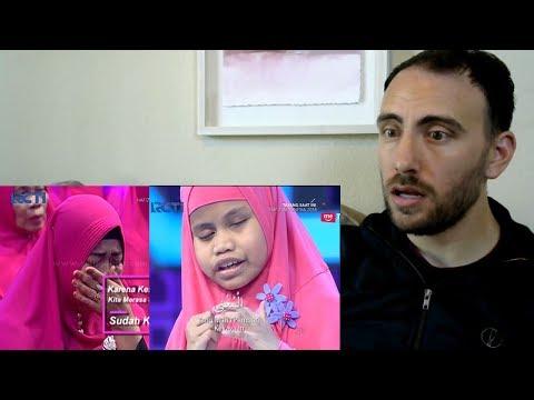 HAFIZ INDONESIA 2018 - Hafalan Almaul Husna Kayla Bikin Satu Studio Menangis REACTION - reaksi bule