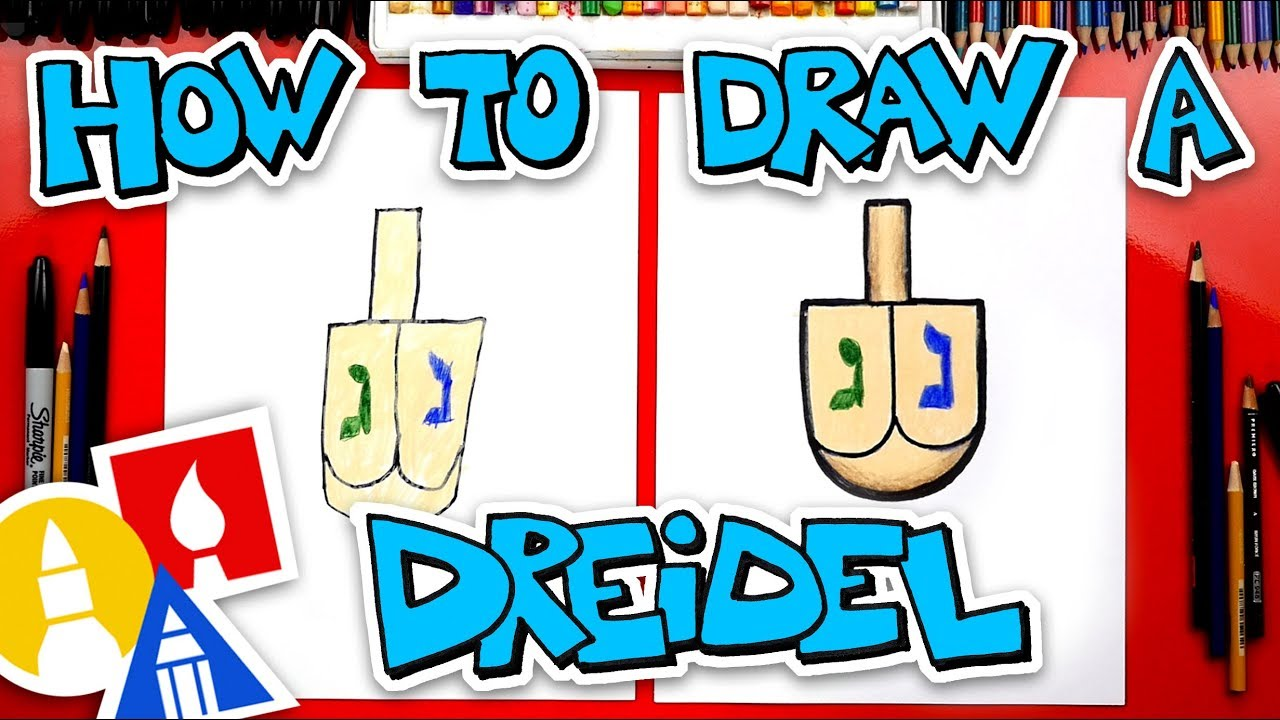 How To Draw A Dreidel For Hanukkah
