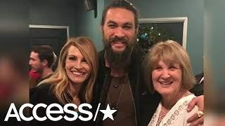 Jason Momoa & His Mom Have A Fan Freakout Over Meeting Julia Roberts | Access