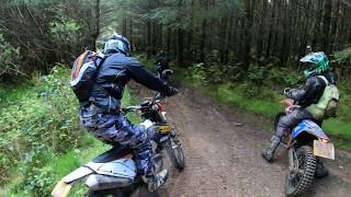 Enduro Wales - Brecon Beacon May 2019 - Routes up the mountains & through the forest - KTM exc 300