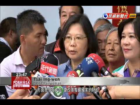 Tsai talks up Hakka culture, bashes county government in Miaoli stop