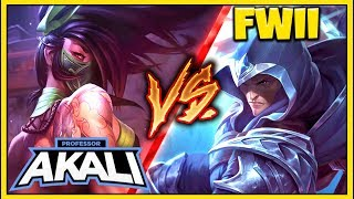 pROFESSOR AKALI VS. RANK 1 CHALLENGER FWII (#1 TALON WORLD) 1v1 FOR $1000 - League of Legends