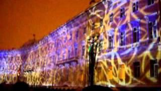 лазерное шоу, СПБ, дворцовая площадь. Рождество 2011-2.MOV