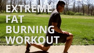 Intense Fat Loss Workout No Equipment - Burpees and Lunges thumbnail