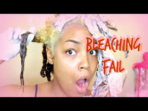 How To Safely Bleach Hair (Bleaching Fail)