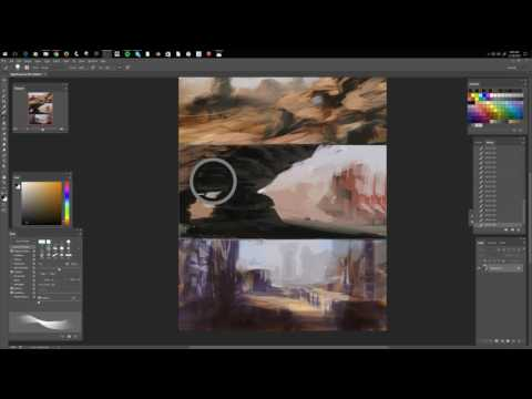 comic book landscape painting01