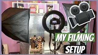 Filming Setup On A Budget! CHEAP LIGHTING AND BACKDROPS