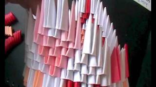 3d Origami: Lovely Valentines Swan Part 3