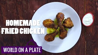 How to make Homemade Fried Chicken   World on a Plate   Manorama Online Recipe