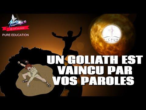 PURE EDUCATION  : UN GOLIATH EST VAINCU PAR VOS PAROLES