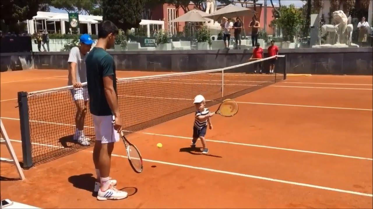 Novak Djokovic Playing Tennis With His Son Stefan Rome 2017 Youtube