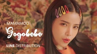 Download lagu MAMAMOO 마마무 GOGOBEBE 고고베베 Line Distribution