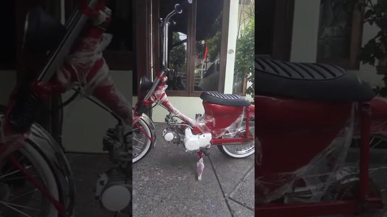 Zuta Joker Momster VS Harley Queen chopy cub Honda C70 - YouTube