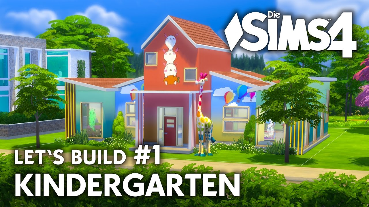 die sims 4 kindergarten kleinkinder haus bauen 1 let 39 s build deutsch youtube. Black Bedroom Furniture Sets. Home Design Ideas