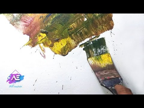 Abstract painting | Colorful abstract landscape in Acrylics | Demonstration | Art explain