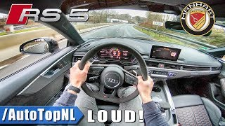 500HP Audi RS5 Manhart 2.9 V6 BiTurbo LOUD! POV Test Drive by AutoTopNL