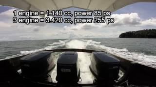 Video #140 Yamaha 85 Outboard | Mesin 2-stroke, 3-cylinder, 3.420 cc, power 255 ps download MP3, 3GP, MP4, WEBM, AVI, FLV Oktober 2018