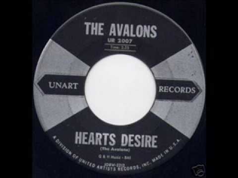 AVALONS Hearts Desire DEC '58