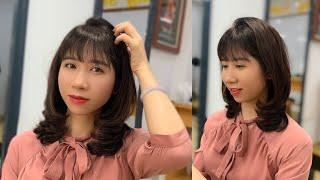Ép, Uốn Cụp Tóc Lỡ 2021 | Quang Saker