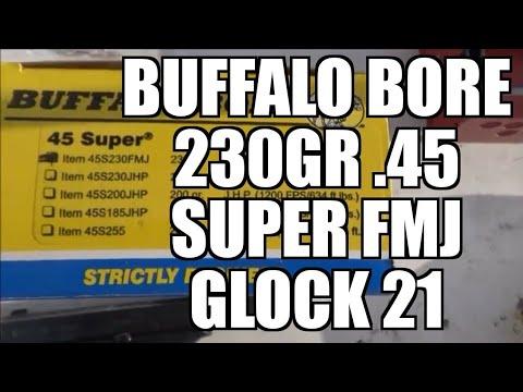 45 super Buffalo Bore 230gr FULL METAL JACKET FLAT NOSE!