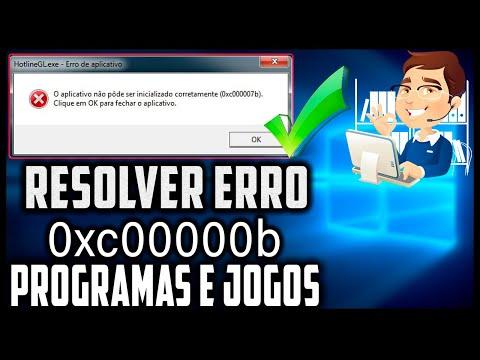 Como Resolver O Erro 0xc000007b Fácil Sem Erros - Programas E Jogos