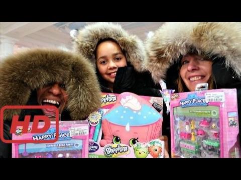 Toys AndMe Bad Baby Shopping In Harrods London! Winter Fashion Clothing - Mega Toy Hunt Shopkins Su