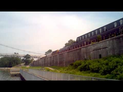 Train passing through Maysville,Kentucky