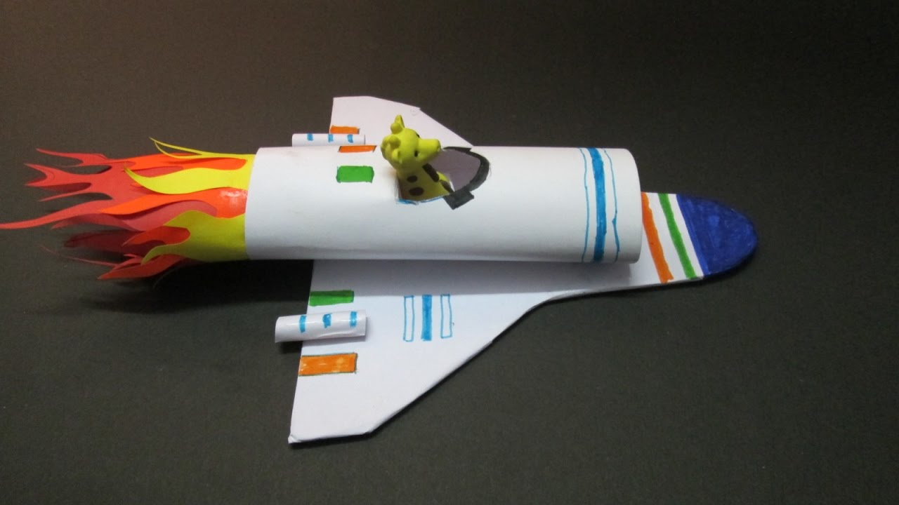 Kids Crafts How To Make A Paper Rocket At Home