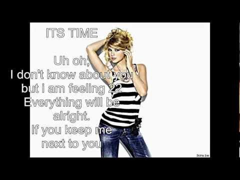 taylor swift 22 lyrics video