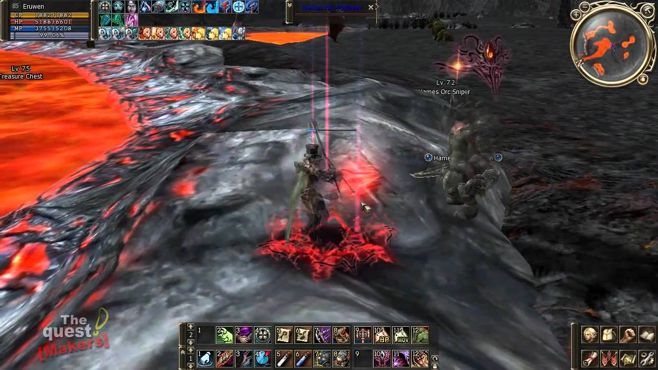 Lineage 2 Gameplay , Archer, Gladiator and Necromancer