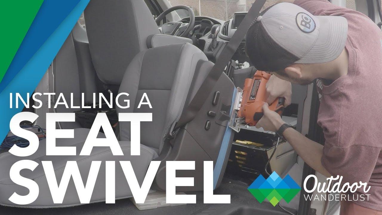 Van Conversion: Installing Seat Swivel in Ford Transit // Van Life EP  2