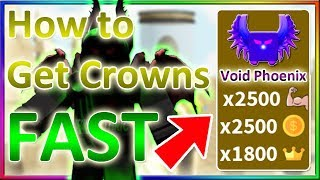 ⚡How to Get Crowns FAST in Saber Simulator *