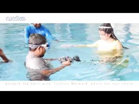 നടിക്കൊപ്പം ചാടുന്ന കാമറാമാന്! Vanitha Underwater Fashion Shoot by Sreekanth Kalarickal