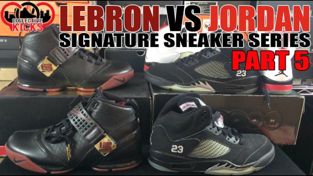d0140f56c479 Jordan vs Lebron Sneakers Series Part 5  Air Jordan 5 (V) vs Nike Zoom  Lebron 5 (V)